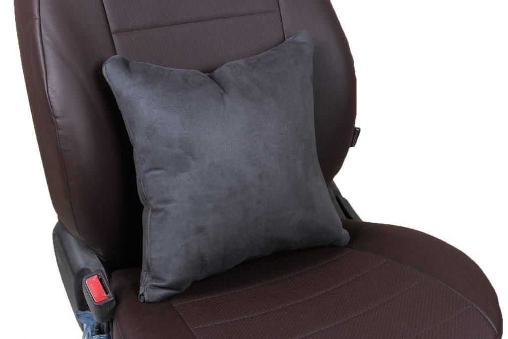 Подушка в салон автомобиля из алькантары «темно-серый»