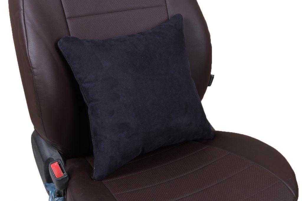 Подушка в салон автомобиля из алькантары «черный»