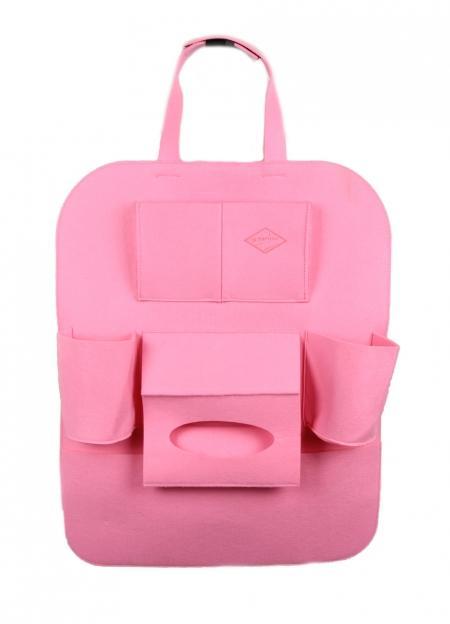 войлочный органайзер на спинку «розовый»
