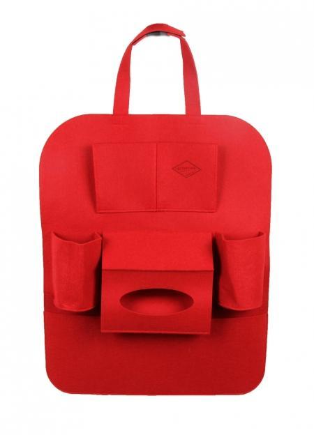 войлочный органайзер на спинку «красный»